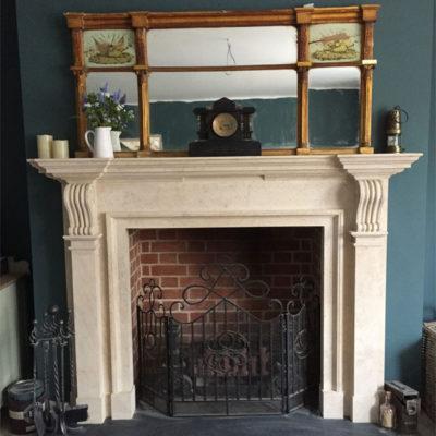 Hibbitt Masonry Stone Fireplace