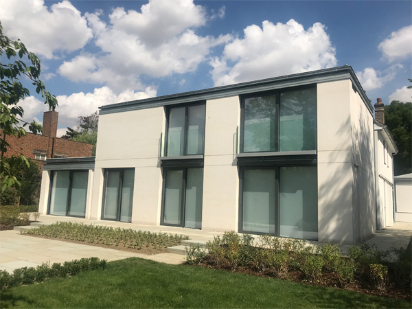 modern new build house